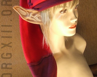 Legend of Zelda - Link's cap in Goron RED - fleece hats by orgXIIIorg