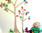 Dear Deer tree - Wall stickers fabric reusable decals