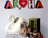 Aroha Maori word for Love reuseable fabric wall decals