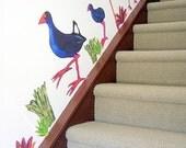 Pukekos - Wall stickers fabric reusable decals