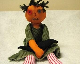 Small Pretty Pumpkin Head