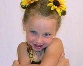 Sunflower Hair Flower Clips/Barrettes - Yellow Hair Clips - Toddler/Girl Hair Clips - Summer Fall Photo Prop