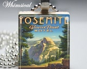 FREE CHAIN Scrabble Tile Jewelry - Scrabble Tile Pendant - Yosemite