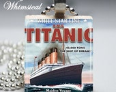 TITANIC Necklace, Scrabble Tile Pendant Jewelry, For Her, Gifts Under 10