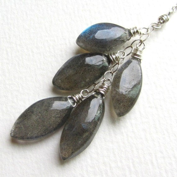 Marquise Cut Labradorite Necklace