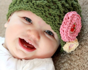 Instant Download - Crochet Pattern - Elise Hat (Baby - Adult)