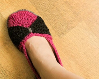 Instant Download - Crochet Pattern - The Jess Flats (Woman size 3-12)