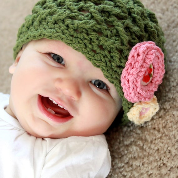 Crochet Pattern Software Free Download : Instant Download Crochet Pattern Elise Hat Baby Adult