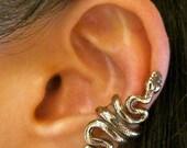 Snake Ear Cuff Bronze Snake Ear Wrap Snake Jewelry Serpent Jewelry Serpent Ear Cuff Non-Pierced Earring Snake Earring Bronze Snake Medusa