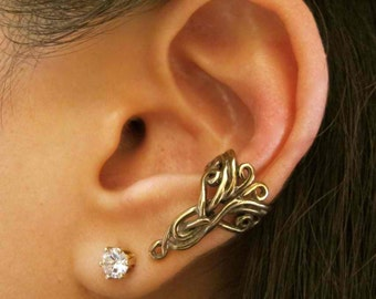 Ear Cuff Bronze Swirl Ear Cuff  Arabesque Ear Cuff Celtic Jewelry Non Pierced Earring Non Pierced Ear Cuff Minimalist Ear Cuff Fashion