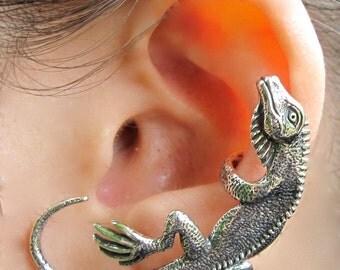Lizard Ear Cuff Silver Iguana Ear Cuff - Lizard Earring Iguana Earring - Silver Iguana - Lizard Jewelry Iguana Jewelry - Reptile Jewelry