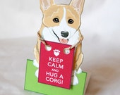 Keep Calm Corgi - Desk Decor Paper Doll