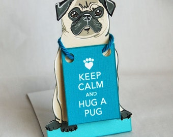 Keep Calm Pug - Desk Decor Paper Doll