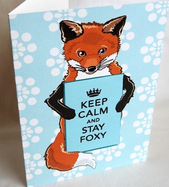Foxy Keep Calm Greeting Card