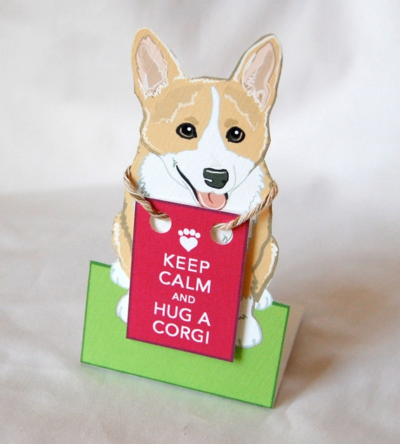 Keep Calm Corgi - Desk Decor Paper Doll