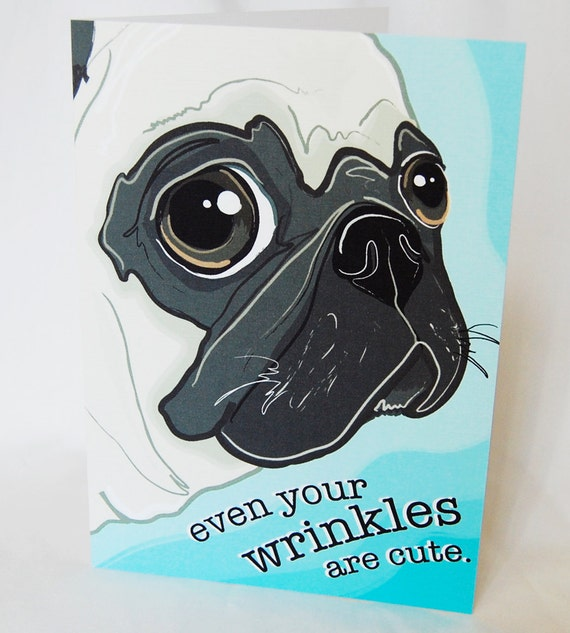 Cute Pug Greeting Card