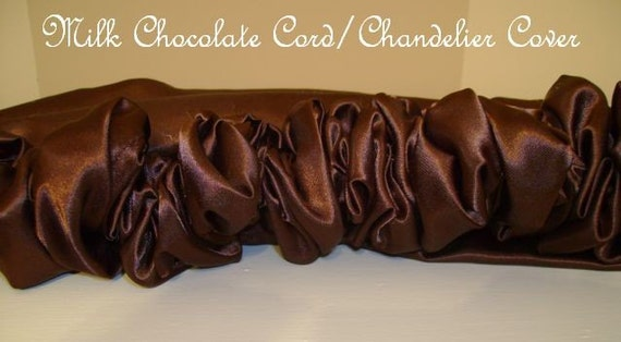 Milk Chocolate Chandelier Cover - Cord Cover - Lighting Decor - Chandelier Cover - Curtain Rod Cover