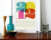 2012 calendar poster print retro vintage kitchen art Mid Century Modern retro office Eames - A3