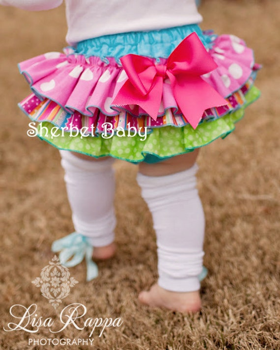 Sassy Pants Ruffle Diaper Cover Panty Candy Shop 7 Legwarmers Available