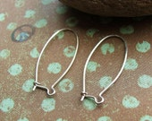 2 pair Medium Kidney Sterling Silver Ear Wires - 22 gauge