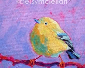 Yellow Warbler - Warbler Art - Bird Art - Paper - Canvas - Wood Block - Giclee Print