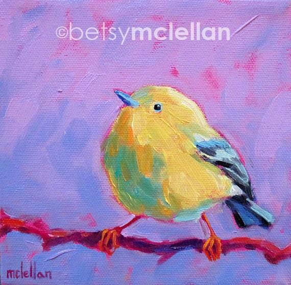 Yellow Warbler - Warbler Art - Bird Art - Giclee Print