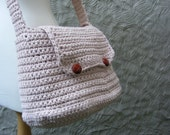 Messenger Bag Crochet Pattern / Tutorial - Crochet Purse - Large Bag with Flap and Button Closure - Easy