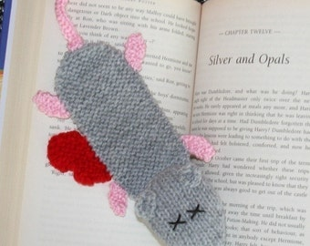Squashed rat bookmark - INSTANT DOWNLOAD PDF Knitting Pattern