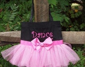 Ballet Tote Bag Custom Boutique monogram name Tutu Dance Bag