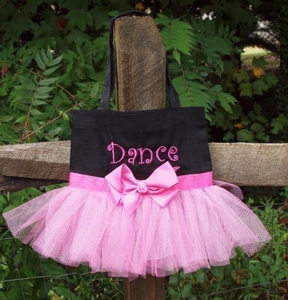 Ballet Tote Bag Custom Boutique monogram name Tutu Dance Bag