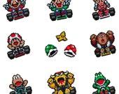 Super Mario Kart Racers - Large Magnets - Arcade Artist