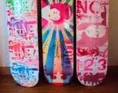 Kawaii custom skateboard original skate art deck