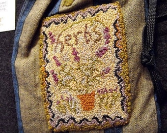 KIT Herb Seeds Punchneedle Embroidery