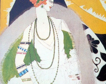 VOGUE Magazine Cover Poster Print Nov 1, 1921 Cover by Helen Dryden New York Winter Fashions Vogue Poster Book
