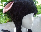 Black Sheep Hat, cosplay fleece lamb