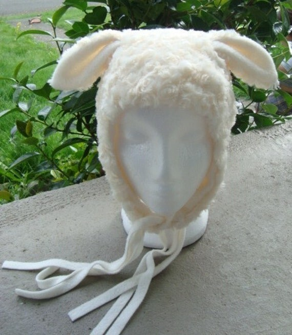 Lamb Hat, super soft animal