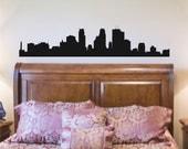 Wall Decal Minneapolis Skyline Vinyl Wall Art Decal  12 X 60