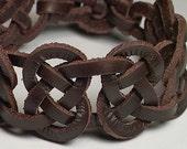 Bracelet pour homme--Celtique 7 noeud Joséphine espagnol cuir manchette / bracelet