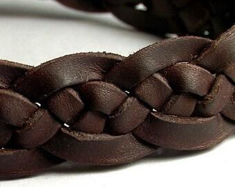Celtic Ocean Wave Spanish leather braided bracelet - wristband