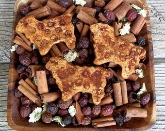 Rustic Cinnamon Spice Wooly Sheep, Country Primitive, Farmhouse Decor, Ewe, Farm Barnyard Animal, Potpourri Addin, Bowl Filler