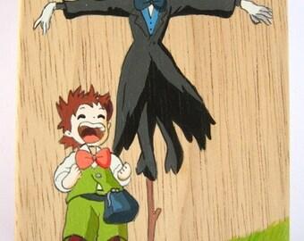 Howl's Moving Castle Hand Paint wood Box Studio Ghibli  2