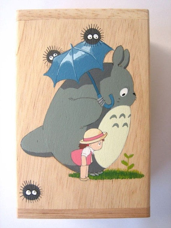 My Neighbor Totoro Hand Paint wood Box Studio Ghibli 13