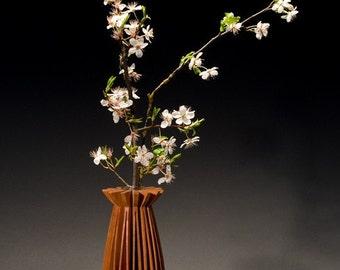 Poppy Cherry wood vase