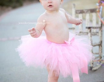 Pink Baby tutu set { Pink Princess } First Birthday Tutu and Headband Tiara Rhinestone baby girl photography prop 15% off order