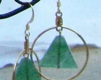 Recovery AA Earrings or Necklace with Green Adventurine Bead