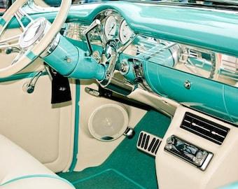 Chevrolet Bel Air Interior Car Photography, Automotive, Auto Dealer, Muscle, Sports Car, Mechanic, Boys Room, Garage, Dealership Art