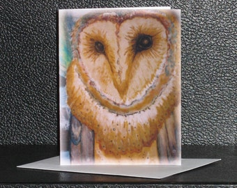 Owl Artist Image Note Card