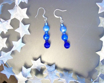 SHADES OF BLUE Dangle Earrings - Gradient Jewelry