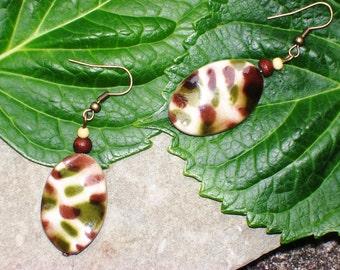 Urban Jungle - Camo Print Dangle Earrings