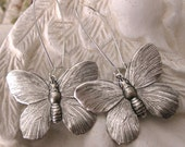 Silver Butterfly Earrings butterfly silver earrings butterfly jewelry birthday gift nature earrings silver butterflies gift for her handmade